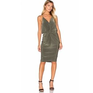 Misa Los Angeles Domino Dress in Olive.